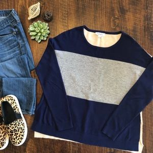 THML   Long Sleeve Color Block Sweater